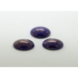 50 ovale bleu irise 14x10