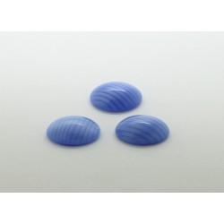 25 ovale bleu soie 18x13