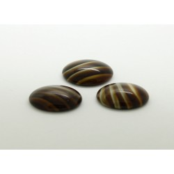 100 ovale marron pierre 10x08