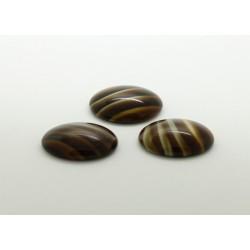 50 ovale marron pierre 14x10