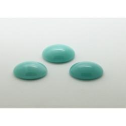 25 ovale turquoise 18x13