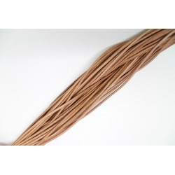 50 mts lacets cuir naturel 4.0mm