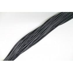 50 mts lacets de cuir noir 0.5mm