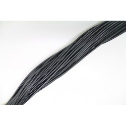 50 mts lacets de cuir noir 1.0mm
