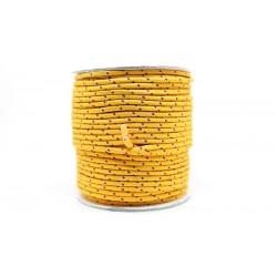 50 Metres Cordon ''BUNGEE'' tricolore base orange clair 2mm
