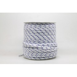 50 Metres Cordon ''BUNGEE'' tricolore base Blanc 2mm