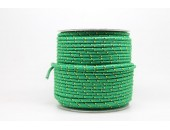 50 Metres Cordon ''BUNGEE'' tricolore base Vert 2mm