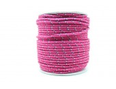 50 Metres Cordon ''BUNGEE'' tricolore base Fuschia 2mm