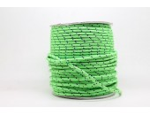 50 Metres Cordon ''BUNGEE'' tricolore base Vert clair 2mm