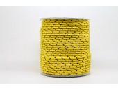 50 Metres Cordon ''BUNGEE'' tricolore base jaune 2mm