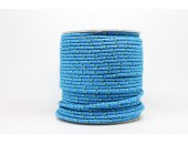 50 Metres Cordon ''BUNGEE'' tricolore base Turquoise 2mm