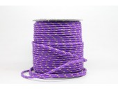 50 Metres Cordon ''BUNGEE'' tricolore base Violet 2mm