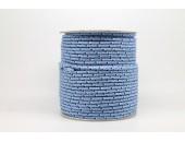 50 Metres Cordon ''BUNGEE'' tricolore base Bleu clair 2mm