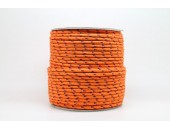 50 Metres Cordon ''BUNGEE'' tricolore base Orange 2mm