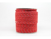 50 Metres Cordon ''BUNGEE'' tricolore base Rouge 3mm