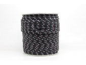 50 Metres Cordon ''BUNGEE'' tricolore base Noir 3mm