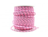 50 Metres Cordon ''BUNGEE'' tricolore base Rose 3mm