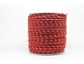 50 Metres Cordon ''BUNGEE'' tricolore base Lie de vin 3mm