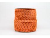 50 Metres Cordon ''BUNGEE'' tricolore base Orange 3mm