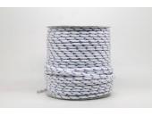 50 Metres Cordon ''BUNGEE'' tricolore base Blanc 4mm