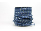 50 Metres Cordon ''BUNGEE'' tricolore base marine 4mm