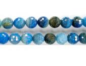 perle facettes craquelee agate bleu ciel 12mm - Fil de 40 Centimetres