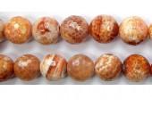Perles facettes Agate Feu 08mm - Fil de 40 Centimetres