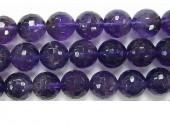Perle facettes amethyste 8mm - Fil de 40 Centimetres
