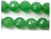 Perle facettes Aventurine verte 12mm - Fil de 40 Centimetres