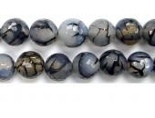 Perle facettes Agate blanche matrix 14mm - Fil de 40 Centimetres