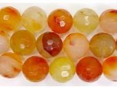 Perle facettes Cornaline 10mm - Fil de 40 Centimetres
