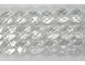 Perle facettes cristal de roche 6mm - Fil de 40 Centimetres