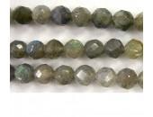 Perle faccettes labradorite 6mm - Fil de 40 Centimetres