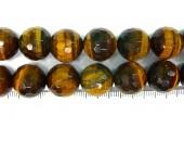 Perle facettes oeil de tigre 4mm - Fil de 40 Centimetres