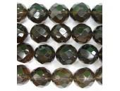 Perle facettes quartz fume 6mm - Fil de 40 Centimetres