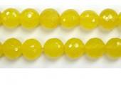 Perle facettes Agate jaune 4mm - Fil de 40 Centimetres
