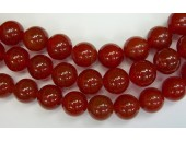 Perles en pierres agate rouge 8mm - Fil de 40 Centimetres