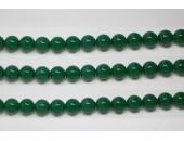 Perles en pierres agate verte 6mm - Fil de 40 Centimetres