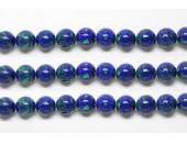 Perles en pierres azurite malachite 6mm - Fil de 40 Centimetres