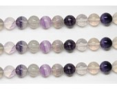 Perles en pierres fluorite rainbow 6mm - Fil de 40 Centimetres