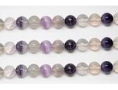 Perles en pierres fluorite rainbow 12mm - Fil de 40 Centimetres