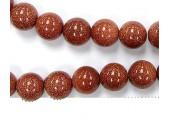 Perles en pierres gold stone 8mm - Fil de 40 Centimetres