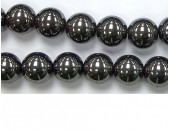 Perles en pierres hematite 6mm - Fil de 40 Centimetres