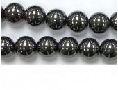 Perles en pierres hematite 8mm - Fil de 40 Centimetres