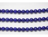Perles en pierres howlite trempee lapis 6mm - Fil de 40 Centimetres