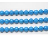 Perles en pierres howlite trempee turquoise 10mm - Fil de 40 Centimetres