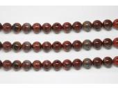 Perles en pierres jaspe breciated 8mm - Fil de 40 Centimetres
