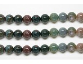 Perles en pierres jaspe fancy 10mm - Fil de 40 Centimetres