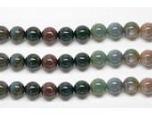 Perles en pierres jaspe fancy 12mm - Fil de 40 Centimetres