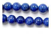 Perles en pierres lapis lazuli 12mm - Fil de 40 Centimetres